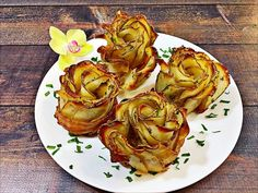 Bacon Wrapped Potato Roses - How to make baked rose shaped potatoes