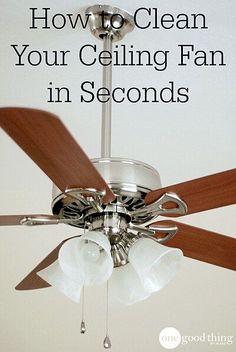 How to Clean Your Ceiling Fan in Seconds - One Good Thing by JilleePinterestFacebookPinterestFacebookPrintFriendlyPinterestFacebook