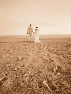If the foot prints were better...this would be amazing! Representing the journey together, ahhh :)