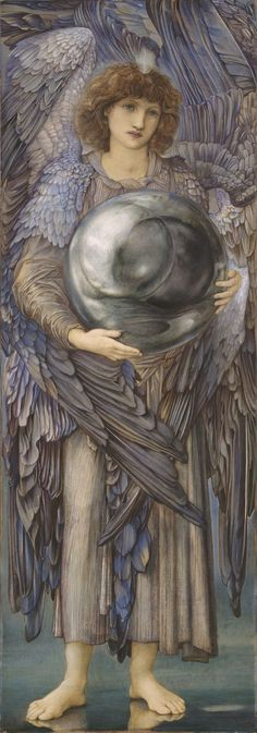 Edward Burne-Jones - First day of creation, 1870-76.  Info http://www.thehistoryblog.com/archives/22832