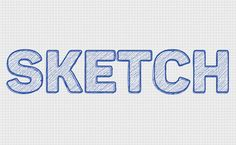 Quick Sketch Text Effect in Adobe Photoshop