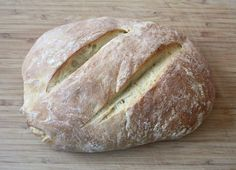 This no yeast sourdough bread recipe is extra tangy and uses just 5 ingredients and is perfect when slathered with salted butter.