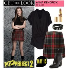 How To Wear Get the Look Anna Kendrick in Pitch Perfect 2 Outfit Idea 2017 - Fashion Trends Ready To Wear For Plus Size, Curvy Women Over 50 Pitch Perfect 2, Fashion 2017, Fashion Outfits, Fashion Trends, Anna Kendrick, Geek Chic, Get The Look, Polyvore Fashion, Fashion Beauty