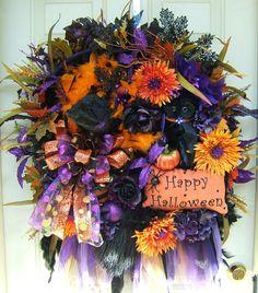 Halloween wreath idea.