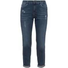Triangle Blue Plus Size Distressed boyfriend jeans ($85) ❤ liked on Polyvore featuring jeans, blue, plus size, blue jeans, distressed jeans, destroyed jeans, ripped jeans and destructed boyfriend jeans