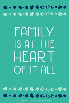 FREE Dream Board Inspirational Printables- Family is at the heart of it all!