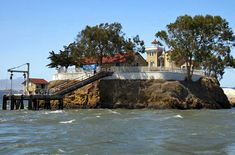 To get to the East Brother Light Station in California, you must take a boat to a small island in San Francisco Bay. Once you arrive, you're welcomed with a Champagne and hors d'oeuvres reception.