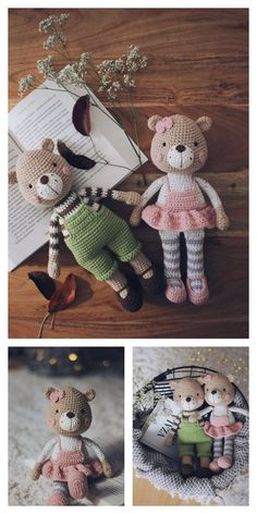 Amigurumi Lying Bear Free Pattern – Amigurumi Free Patterns And Tutorials Crochet Teddy Bear Pattern, Crochet Amigurumi Free Patterns, Crochet Bear, Cute Crochet, Crochet Dolls, Animal Knitting Patterns, Stuffed Animal Patterns, Popular Crochet, Crochet Projects