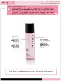 Mary Kay oil free eye makeup removerwww.marykay.com.mx/almareza #marykaydfsur Facebook/Ilumina tu Belleza con Mary Kay