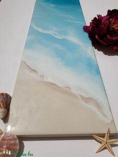 Műgyanta tengerpart festmény 3D hullámokkal (NaxaDesign) - Meska.hu