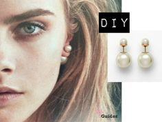 Style Guides: DIY: Dior Double Pearl Earring