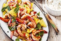 A meal packed with Asian greens, succulent prawns and aromatic lime and mint - all ready in 25 minutes.