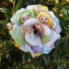 Gumnut Babies Upcycled Book Flower Bouquets by Novel Hearts