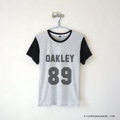 Oakley 89 Baseball Tee ; Tyler Oakley ; Youtube Shirt ;  # webstar ; Fangirl ; Graphic Tees ; Tumblr ; Teen Fashion