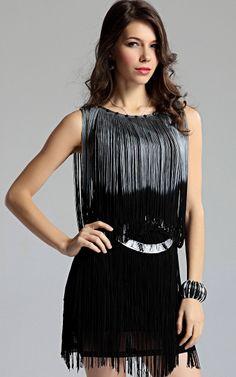 New Lady Women's Summer Wear Sleeveless Dynamic Tassels Dress on AliExpress.com