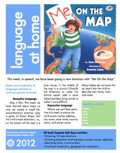 Free download! Me on the Map-many concepts! Pinned by SOS Inc. Resources.  Follow all our boards at http://pinterest.com/sostherapy  for therapy resources.