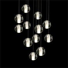 Kaufen (EU Lager)Pendelleuchte Modern Kristall Galvanisiert Transparent Kugel mit Günstigste Preis und Gute Service!