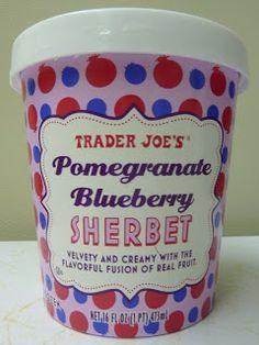 What's Good at Trader Joe's?: Trader Joe's Pomegranate Blueberry Sherbet