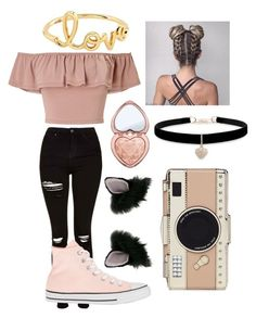 A fashion look from April 2017 featuring peach crop top, high waisted distressed jeans and woven sneakers. Browse and shop related looks. Swag Outfits For Girls, Cute Teen Outfits, Teenage Girl Outfits, Cute Comfy Outfits, Girls Fashion Clothes, Teen Fashion Outfits, Mode Outfits, Stylish Outfits, Girl Fashion