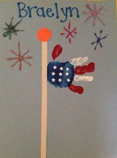 Patriotic Hand Poles | DIY July 4th Crafts for Kids