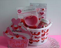 Fun idea for good friend, neighbor, etc - basket of cupcake making supplies
