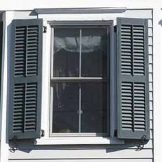 Arts and crafts shutters with copper backed pine tree cutouts washington arts and crafts for Vinyl vs wood exterior shutters