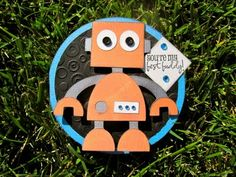 Challenge This weeks Challenge over at Celebrate The Occasion is to create a Circle Shaped card. Robot Classroom, Classroom Themes, Boy Cards, Kids Cards, Circle Shape, Robots, Handmade Cards, Gears, Card Ideas