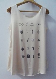 Icon Accessories Art Design Harry Potter Tank top Pop Punk Rock Tank Top Vest Women T shirt  T-Shirt SizeS,M,L on Etsy, $15.00