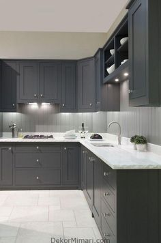 24 Elegant Dark Grey Kitchen Cabinets Paint Colors Ideas You see, I'd wanted my cabinets black for a very long moment. While white cabinets are lovely, they're not the only means to reach a pretty kitchen. Dark Grey Kitchen Cabinets, Painting Kitchen Cabinets, Kitchen Cabinet Design, Kitchen Interior, White Cabinets, Kitchen Grey, Refinish Cabinets, Medium Kitchen, Kitchen Modern