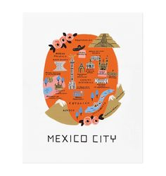 Mexico City Illustrated Art Print