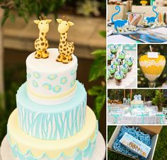 Let's double the fun & get wild with this {Adorable Animal} Twins First Birthday Party by Bob Gail Special Events (with an amazing cake & more desserts by Vanilla Bake Shop)! http://hwtm.me/158W28S