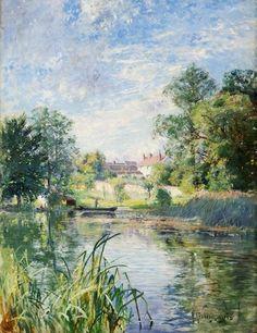 LOVE these colors!!  Swedish Landscape Painter Anton Genberg (1862-1939) ~