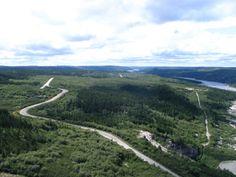 Baie-James, Aménagements Robert-Bourassa, centrale, barrage sur la Grande-Rivière, digue de remblai et réservoir.