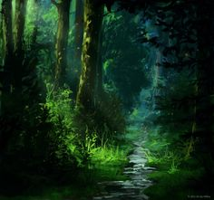 forest digital painting - Google Search