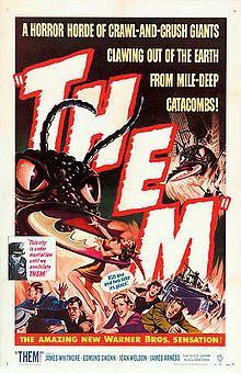 Them 1954  starring James Whitmore, Edmund Gwen, Joan Weldon and James Arness