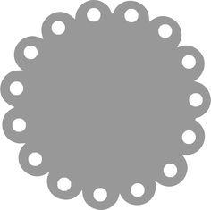 Basic templates - scalloped circle