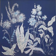 Blue & White Floral by MacKa