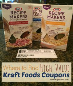 Where to find high-value Kraft Foods Coupons #coupons #spon