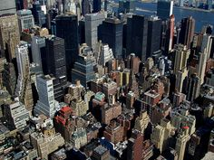 Lego City. Manhattan, NYC, viewed from the Empire State Building.