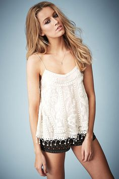 **Swing Crochet Cami Top by Kate Moss for Topshop- Topshop