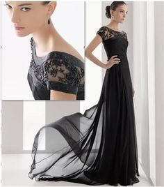 New Sexy Short Sleeve Evening Dresses Fashion Chiffon Beaded Formal Prom Gown | eBay