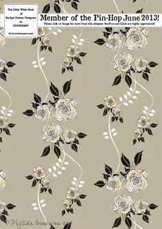 Midnight garden collection by Phyllida Coroneo Floral Patterns, Pretty Patterns, Midnight Garden, Fabulous Fabrics, Pick One, Fabric Design, Florals, June, Designers