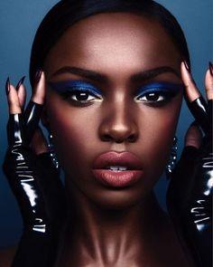 Blitz Blue: Model Leomie Anderson for Pat McGrath Labs