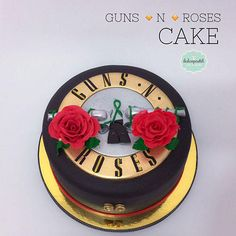 Torta Guns N´ Roses Medellín - Cake by Giovanna Carrillo