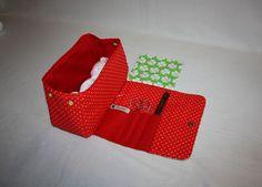 Utensilos & Stoffkörbchen - Wolltasche, Strickprojekttasche Handarbeitstasche - ein Designerstück von Kaepseles bei DaWanda
