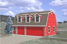 Farmhouse Style House Plan - 1 Beds 1.00 Baths 554 Sq/Ft Plan #116-134 Exterior - Front Elevation - Houseplans.com