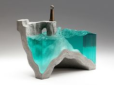 ben young turns the ocean abyss into glass and concrete landscapes