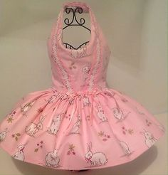 Pink easter #bunny dog #dress with net #petticoat, View more on the LINK: http://www.zeppy.io/product/gb/2/172093170418/
