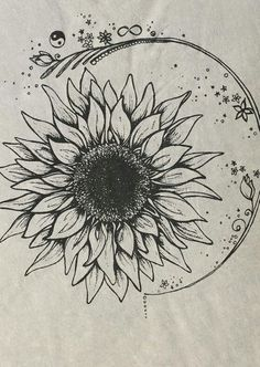 drawing sunflowers step by step - Google Search