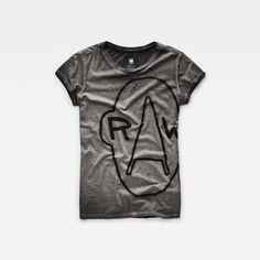 Add some attitude to your outfit with this laid-back t-shirt in dark, mottled…